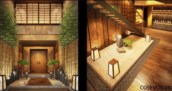 Bố trí nội thất nhà hàng Nhật sang trọng - View 2