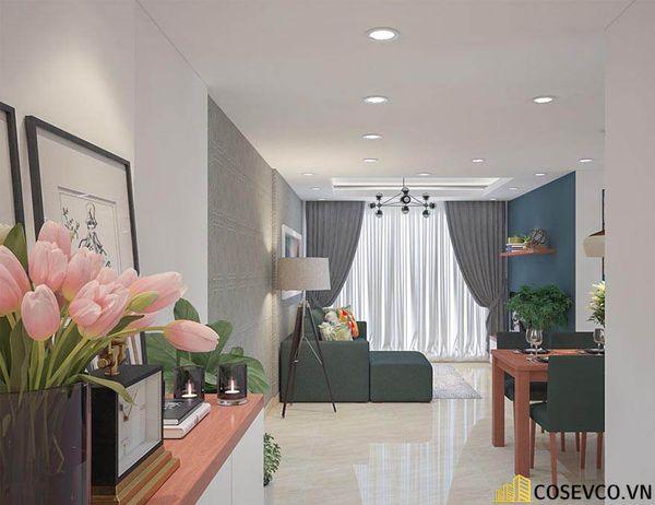 Thiết kế nội thất chung cư 100m2 với 2 phòng ngủ đẹp - View 3