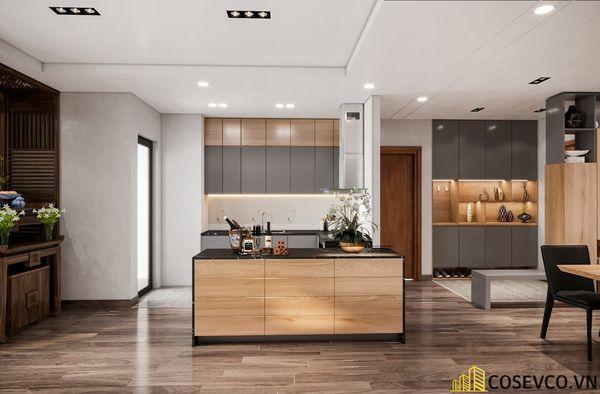 Bố trí nội thất căn hộ chung cư 100m2 - 3 phòng ngủ đẹp - View 4