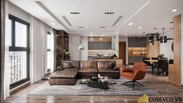 Bố trí nội thất căn hộ chung cư 100m2 - 3 phòng ngủ đẹp - View 1