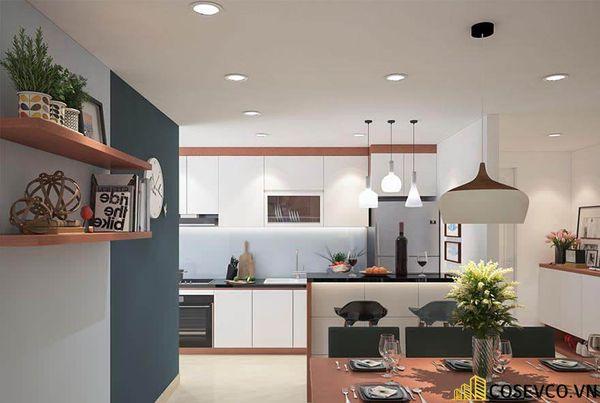 Thiết kế nội thất chung cư 100m2 với 2 phòng ngủ đẹp - View 6
