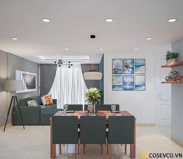 Thiết kế nội thất chung cư 100m2 với 2 phòng ngủ đẹp - View 4