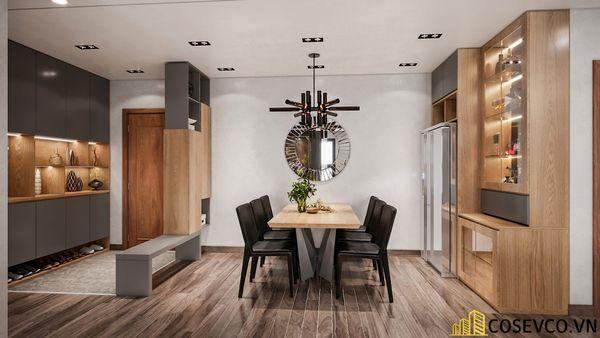Thiết kế nội thất chung cư 3 phòng ngủ - phòng bếp đơn giản sang trọng