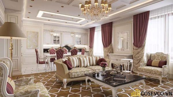 Thiết kế nội thất chung cư 70m2 tân cổ điển