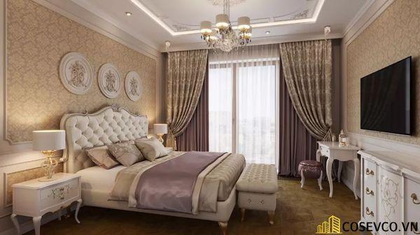 Nội thất phòng ngủ căn hộ 70m2 sang trọng