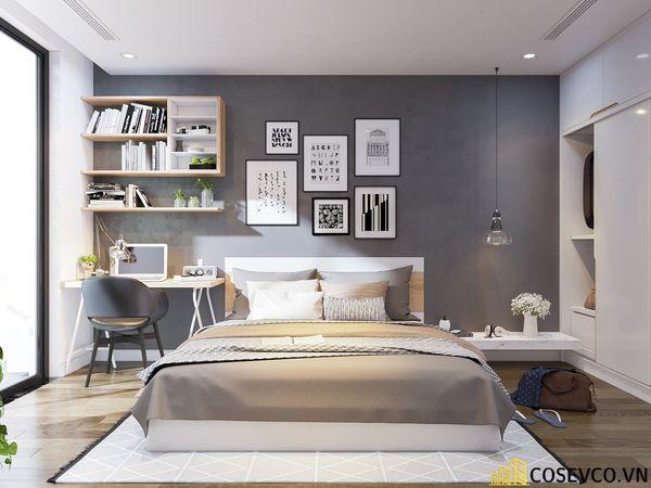 Nội thất phòng ngủ căn hộ chung cư 70m2 đơn giản tinh tế