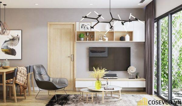 Thiết kế phòng khách chung cư 70m2 nên lựa chọn những món đồ nội thất đơn giản - View 2