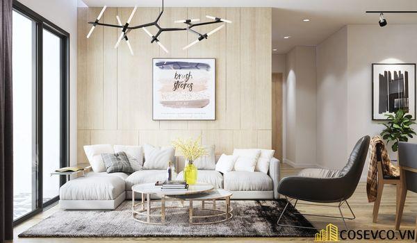Thiết kế phòng khách chung cư 70m2 nên lựa chọn những món đồ nội thất đơn giản - View 1
