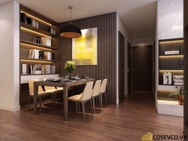 Mẫu thiết kế nội thất chung cư 80m2 3 phòng ngủ - Phòng bếp