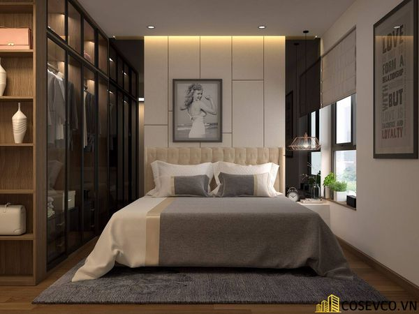 Mẫu thiết kế phòng ngủ 20m2 đơn giản hiện đại - M8