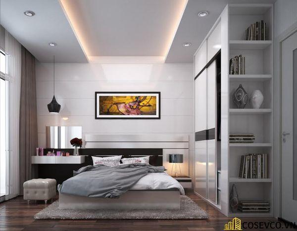 Mẫu thiết kế nội thất phòng ngủ 20m2 cho vợ chồng - M3