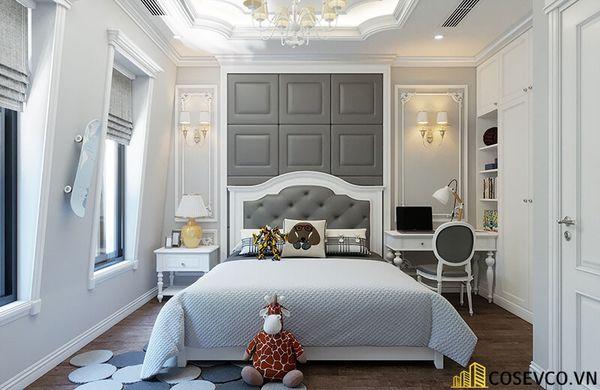 Mẫu thiết kế nội thất phòng ngủ 20m2 cho vợ chồng - M2