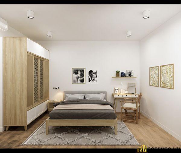 Mẫu thiết kế nội thất phòng ngủ 20m2 cho vợ chồng - M1