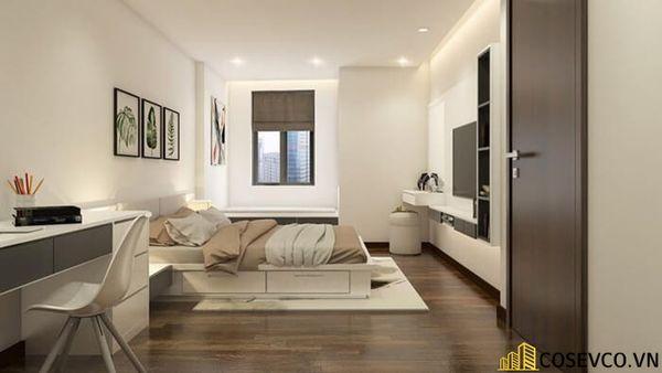 Mẫu thiết kế nội thất phòng ngủ 20m2 cho vợ chồng - M6