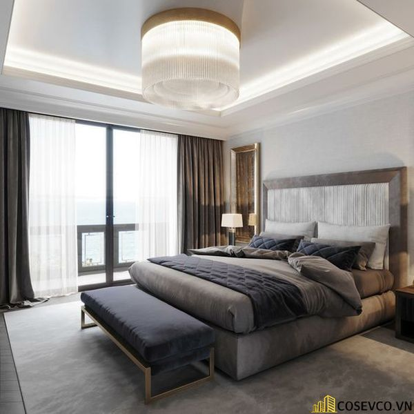 Mẫu thiết kế nội thất phòng ngủ 20m2 cho vợ chồng - M8