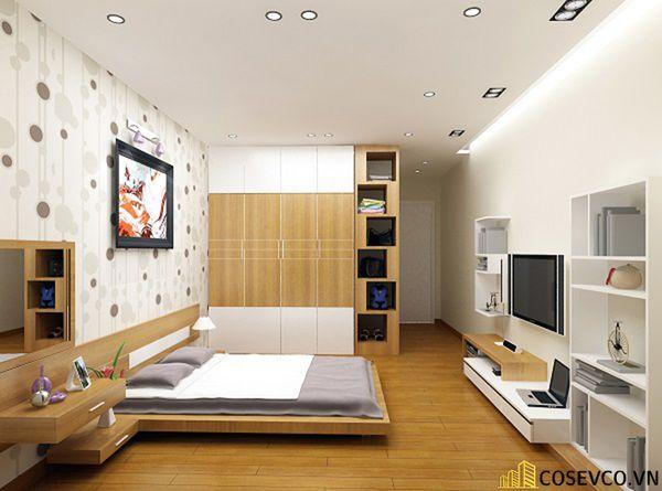 Thiết kế phòng ngủ 20m2 có toilet hiện đại và khoa học - Mẫu 8