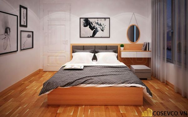 Mẫu thiết kế phòng ngủ 20m2 đơn giản hiện đại - M2