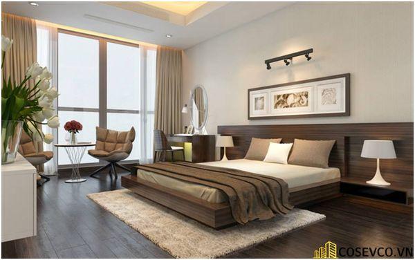 Mẫu thiết kế phòng ngủ 20m2 đơn giản hiện đại - M1