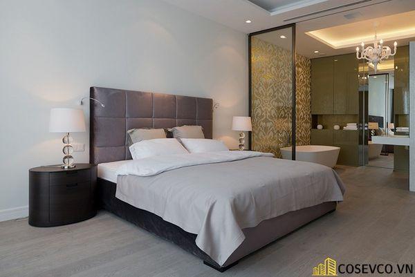 Thiết kế phòng ngủ 20m2 có toilet hiện đại và khoa học - Mẫu 5