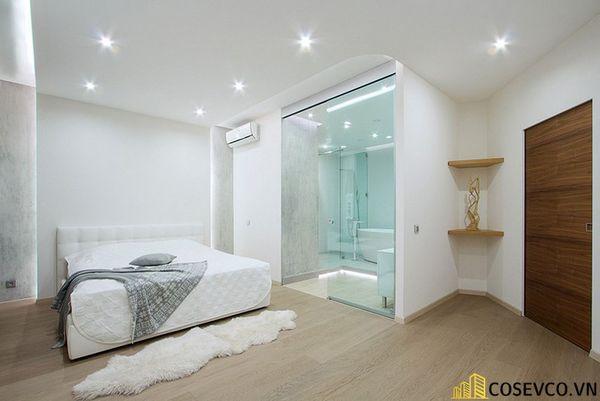 Thiết kế phòng ngủ 20m2 có toilet hiện đại và khoa học - Mẫu 2