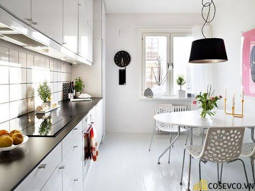 Ý tưởng trang trí phòng bếp nhà ống đẹp - Mẫu 5