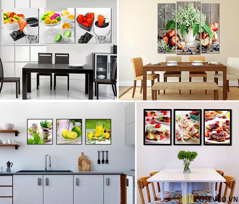 Tranh, kính cường lực trang trí phòng bếp đơn giản sang trọng - H2