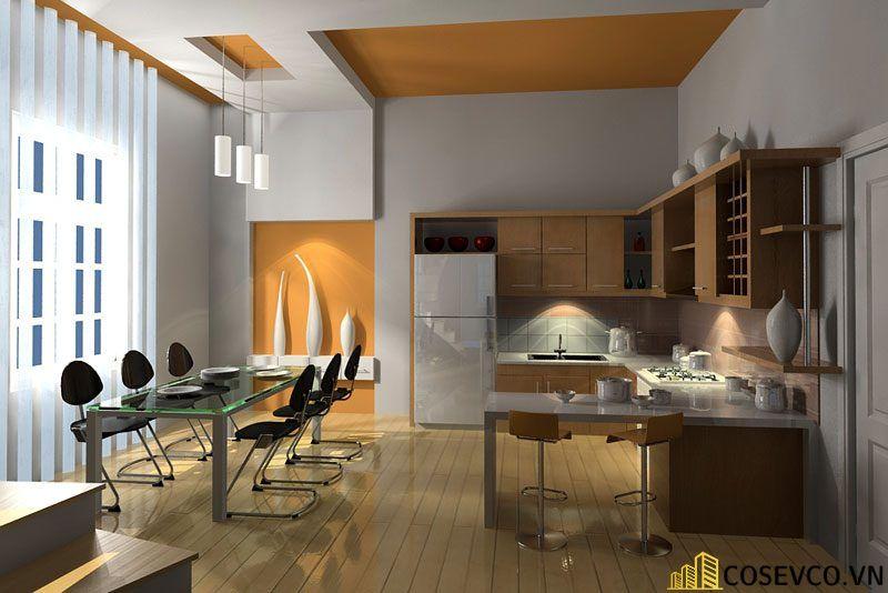 Ý tưởng trang trí phòng bếp nhà ống đẹp - Mẫu 4