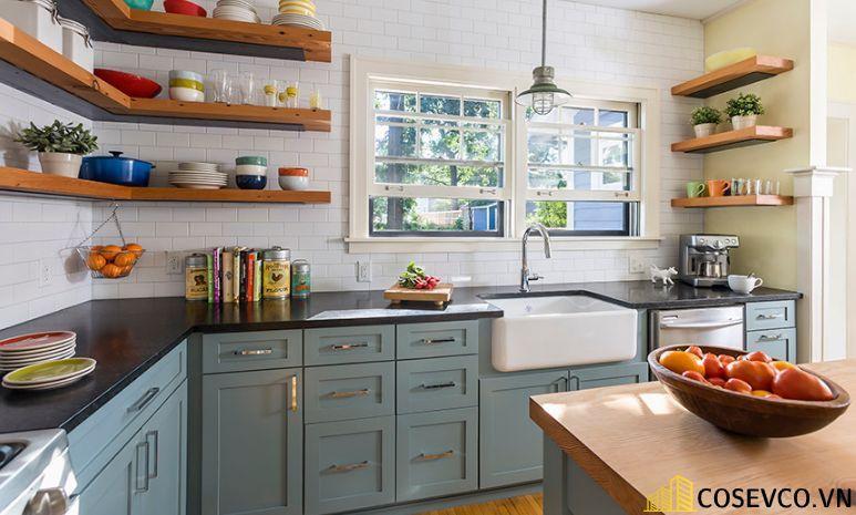 Trang trí nhà bếp bằng kệ để đồ nhỏ gọn - M3