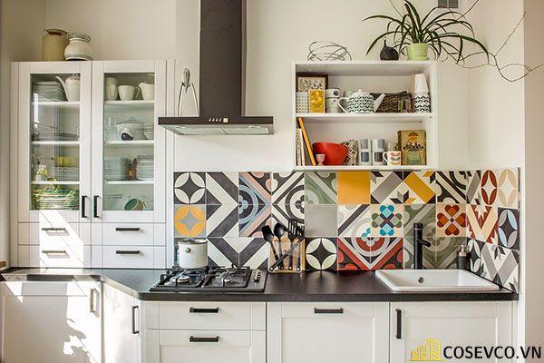 Trang trí tủ bếp nhằm giúp cho không gian bếp được trở nên sinh động - H1