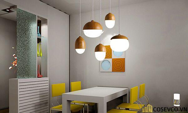 Trang trí bếp bằng đèn treo ấn tượng - M2
