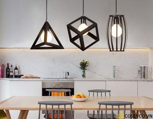 Trang trí bếp bằng đèn treo ấn tượng - M3