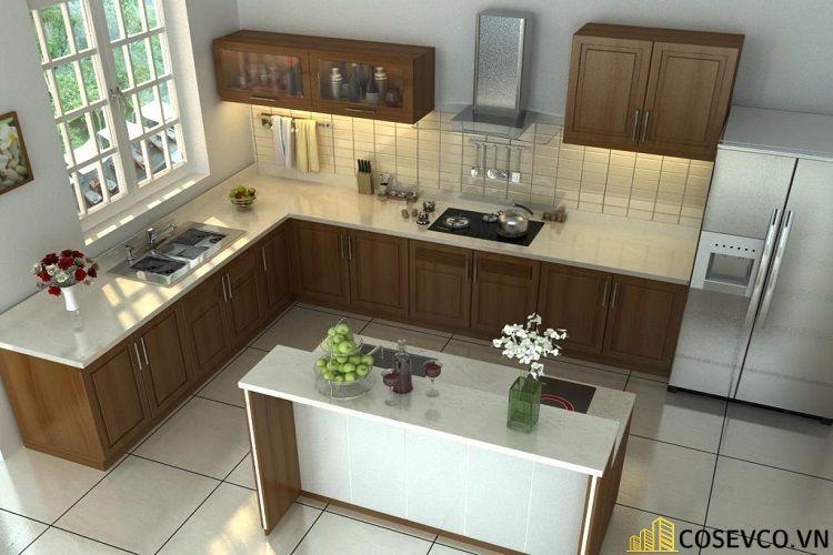 Ý tưởng trang trí bếp nhà cấp 4 đẹp - Mẫu 1