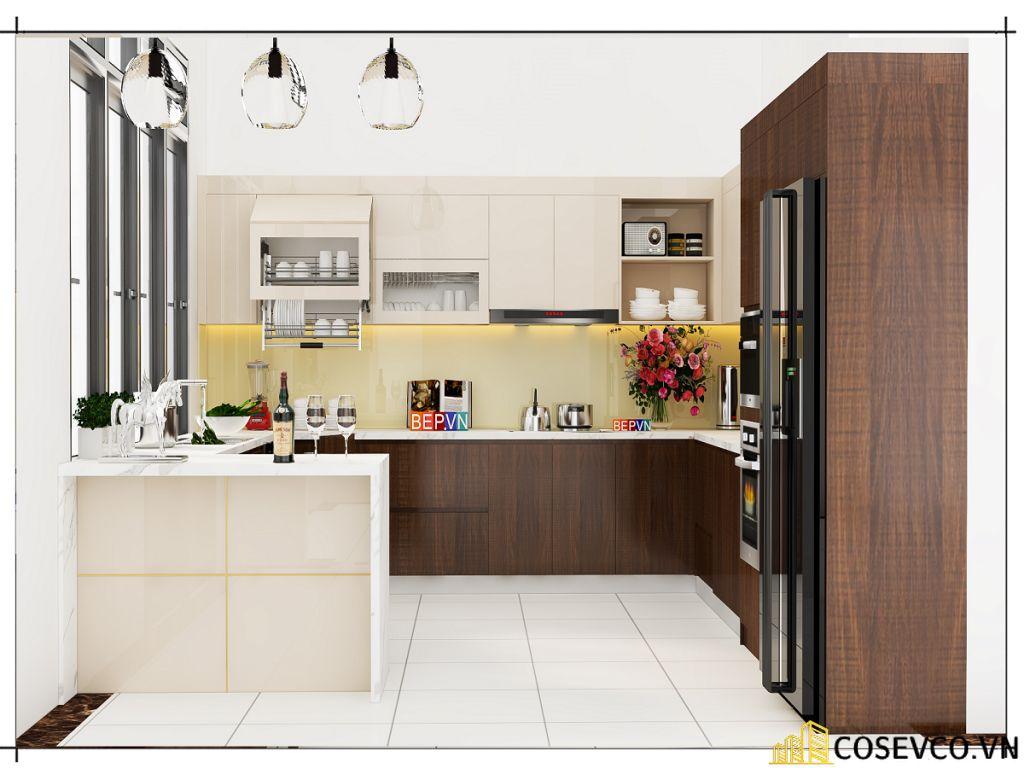 Ý tưởng trang trí phòng bếp nhà ống đẹp - Mẫu 3