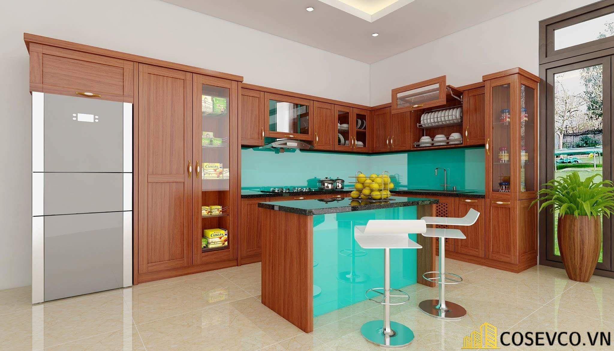 Trang trí tủ bếp nhằm giúp cho không gian bếp được trở nên sinh động - H2