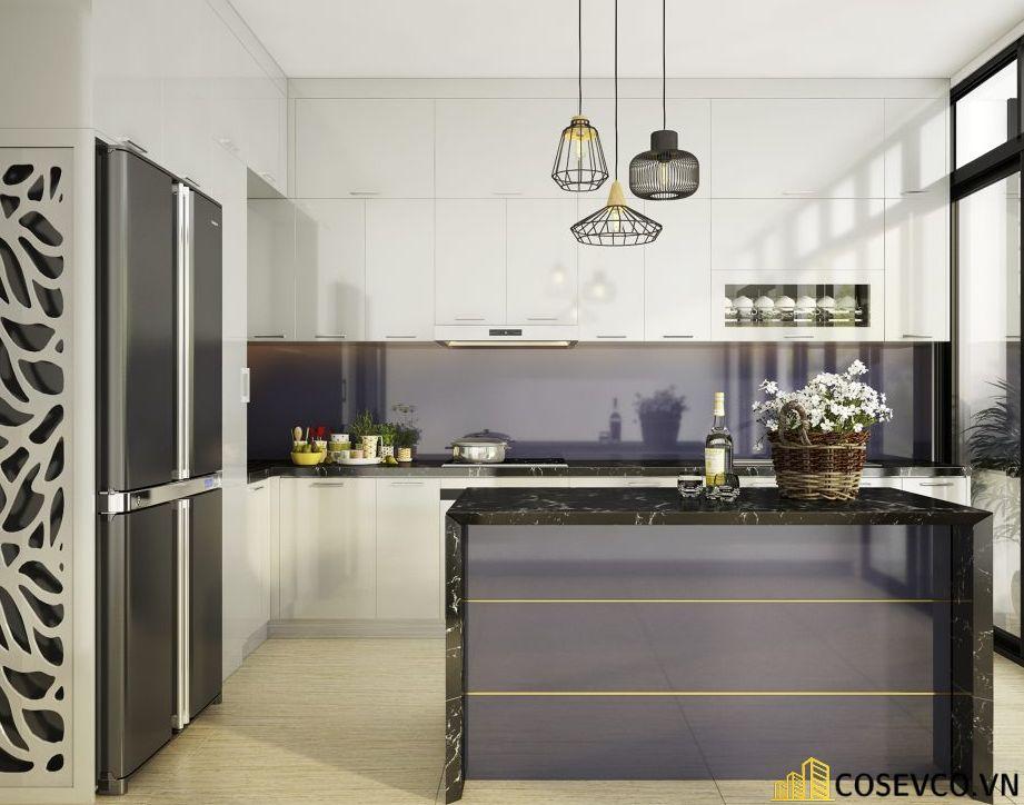 Trang trí bếp bằng đèn treo ấn tượng - M6