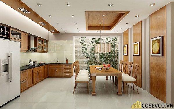 Ý tưởng trang trí phòng bếp nhà ống đẹp - Mẫu 1