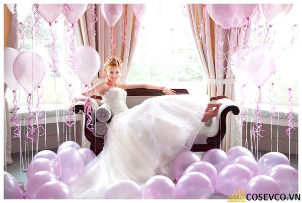 Trang trí phòng cưới bằng bóng bay - M3