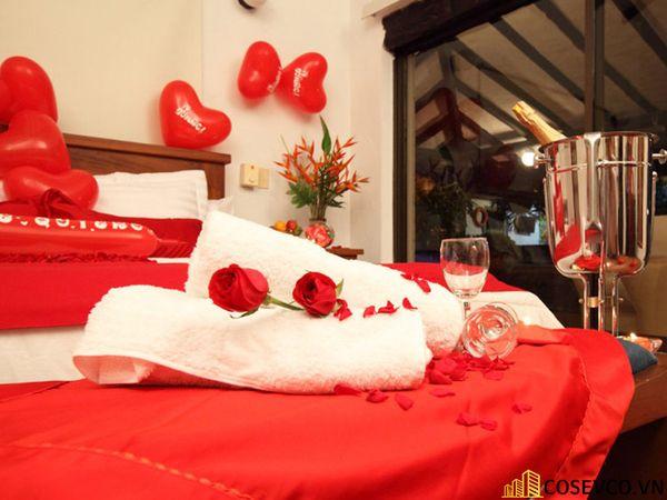 Trang trí phòng cưới với khăn tắm - M4