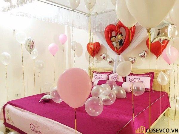 Trang trí phòng cưới bằng bóng bay - M1