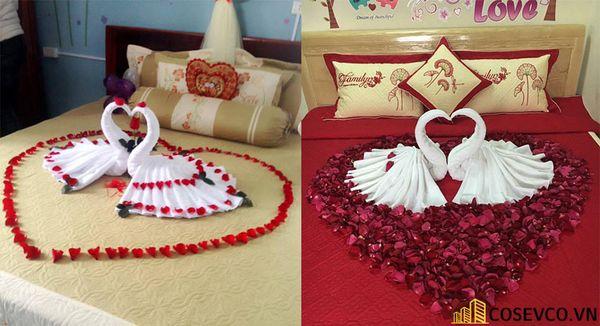 Trang trí phòng cưới với khăn tắm - M3