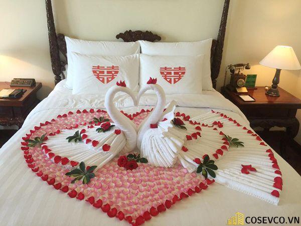 Trang trí nội thất phòng cưới đơn giản ấm áp nhất - M1