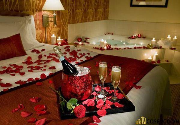Trang trí phòng cưới với nến