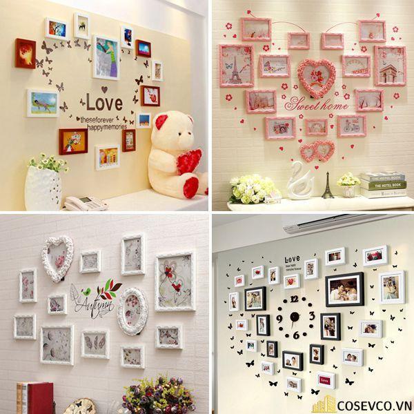 Trang trí không gian phòng cưới với những khung ảnh kỷ niệm - M1