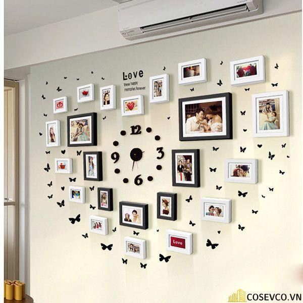 Trang trí không gian phòng cưới với những khung ảnh kỷ niệm - M3