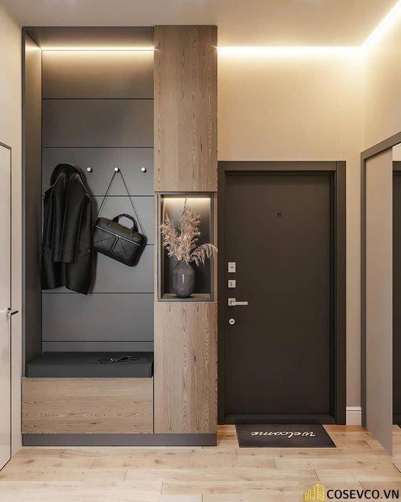 Mẫu tủ giày thiết kế kịch trần thông minh - Mẫu 13