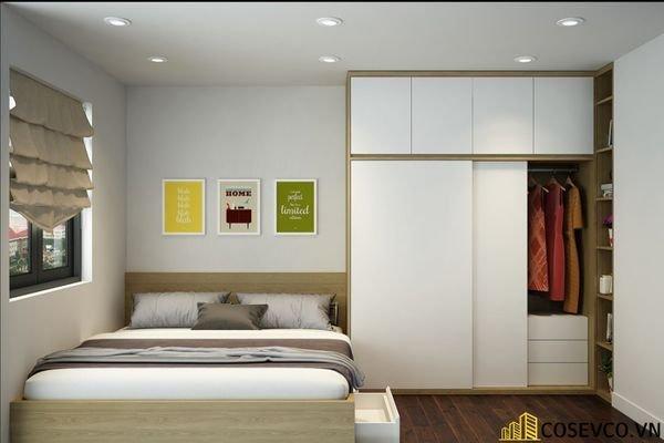 Mẫu tủ quần áo cửa lùa 2 cánh phù hợp với không gian nhỏ, tiết kiệm diện tích - M9