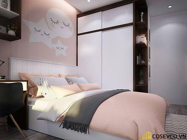 Mẫu tủ quần áo cửa lùa 2 cánh phù hợp với không gian nhỏ, tiết kiệm diện tích - M11