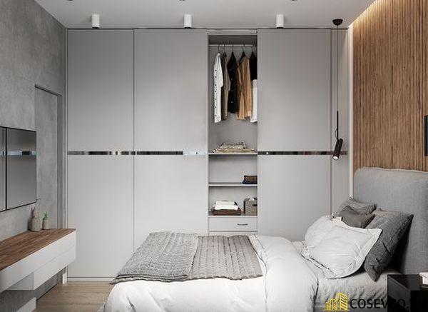 Tủ quần áo 3 cánh có thể mở cùng lúc 2 cánh dễ dàng - Mẫu 6