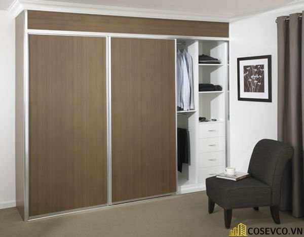 Mẫu tủ áo quần dành riêng cho những căn phòng có diện tích lớn - Mẫu 7