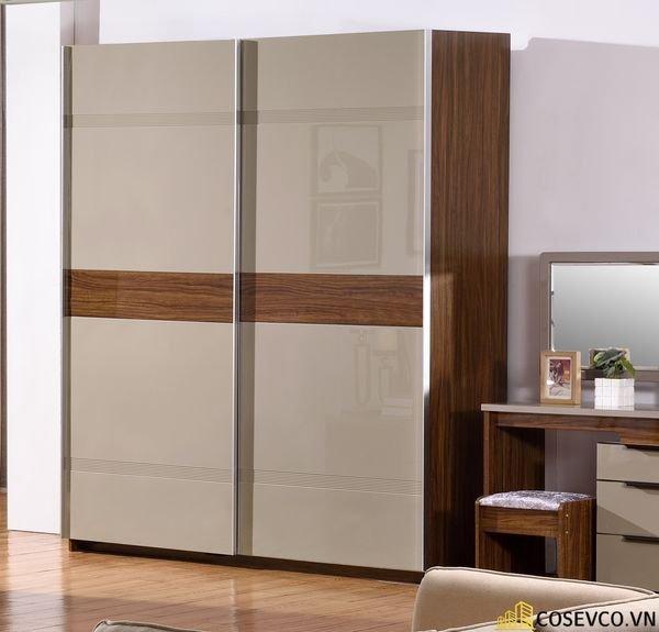 Mẫu tủ quần áo cửa lùa 2 cánh phù hợp với không gian nhỏ, tiết kiệm diện tích - M7